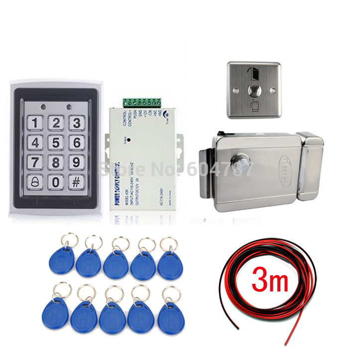 NEW RFID Card Door Lock Access Control System Kit +Electronic Lock +10 Cards(China (Mainland))