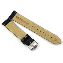 Unique Genuine Leather Strap Steel Buckle Wrist Watch Band Soft 18 24mm