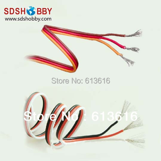 DIY Futaba /JR Color 22# 22AWG Servo Extension Cable/ Flat Cable 1M without Connector<br><br>Aliexpress