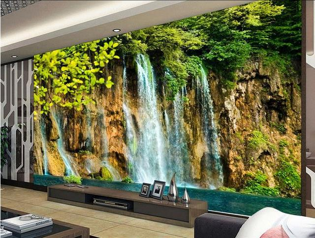 High quality wallpaper 3d wall mural papel de parede photo for 3d nature wallpaper for wall