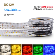 NEW 5M/Roll Waterproof RGB Led Strip 5050 SMD Led Tape DC 12V 60Leds/M Fita Flexible Ribbon String IP20 IP65 IP67 300Leds(China (Mainland))