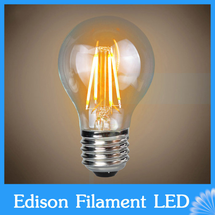 E27 LED Filament Light Glass Housing Bulb Lamps 220V 4W 8W 12W 16W 360 Degree Edison chandelier Replace Incandescent Dimmable(China (Mainland))