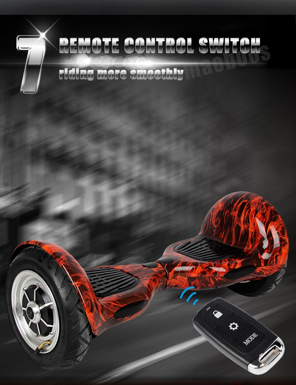 SM battrey bluetooch bag remote 10 inch self balance electric scooter Skateboard Standing Drift Board smart hoverboard