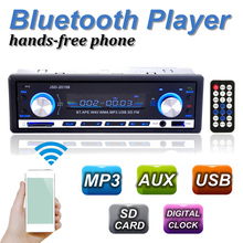 New 12V BLUETOOTH 1-Din Stereo Radio MP3 USB/SD AUX Audio Player Car in Dash 60Wx4 Cell phone charger