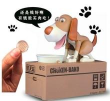 Money Boxes Novelty & Gag Toys Birthday gift dog piggy bank dog piggy bank Gags & Practical Jokes(China (Mainland))