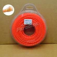 0.120 ' 3.0 mm diamemter herramientas herramientas de giro Square Garden de hierba línea Color naranja tarjeta de la ampolla embalaje