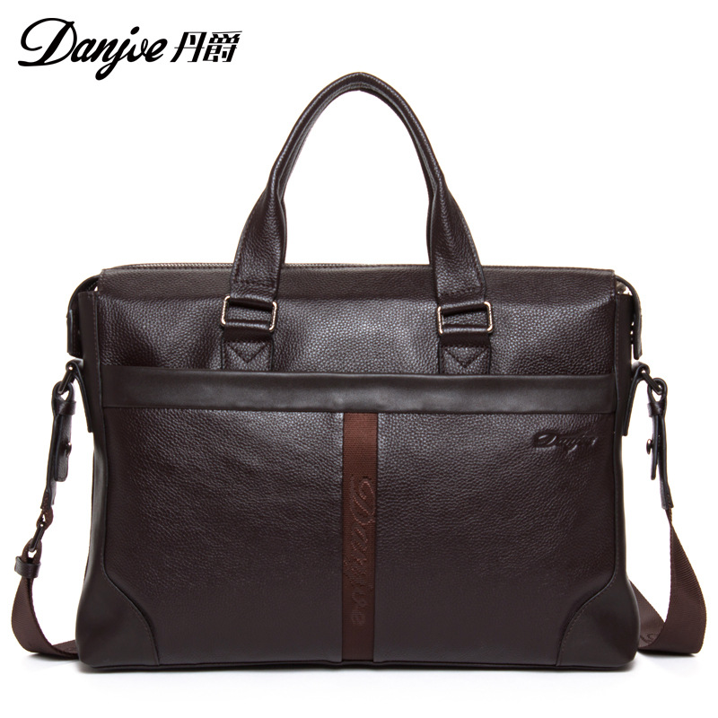 Time-limited New arrive men Full genuine Head Layer Cowhide leather handbags mens fashion briefcase  brand shoulder bags<br><br>Aliexpress