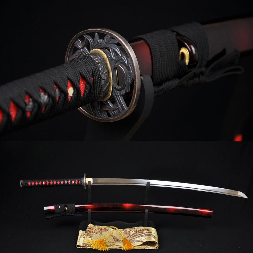 [Ficha] - Yuki Handmade-Japanese-Samurai-font-b-Katana-b-font-font-b-Sword-b-font-1060-High-Carbon
