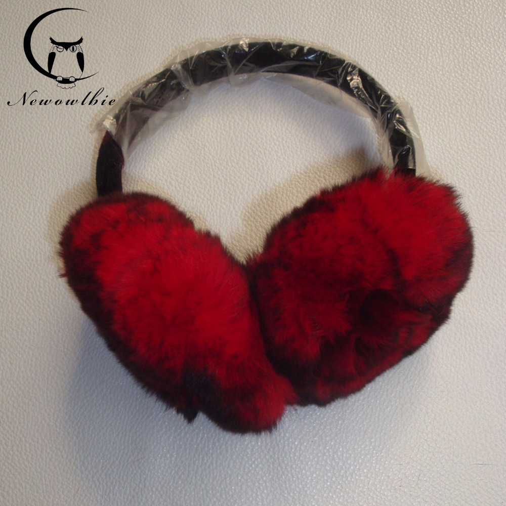 2016 new winter fur ear protection earmuffs Rex rabbit fur earmuffs hairy ears warm ear package cover fashion ear package(China (Mainland))