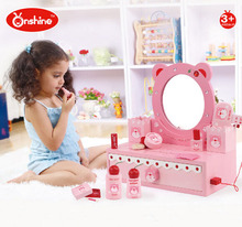 ONSHINE Simulation dressing table set toys Wooden play house Classic toy Girl gift High quality(China (Mainland))