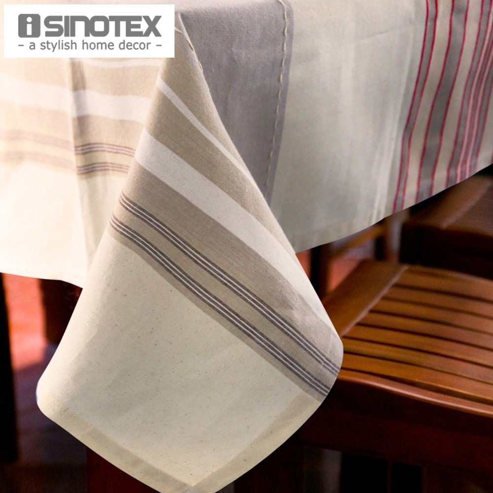 Linen Party Table Cloth Striped Square Decor Table Cover Rectangle Rustic Tablecloth For Wedding Decorative Banquet Home Feast(China (Mainland))