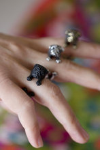 Vinatge Silver Bronze Pug Dog Rings for Women Anillos Mujer Wedding Rings Fine Jewelry Anel