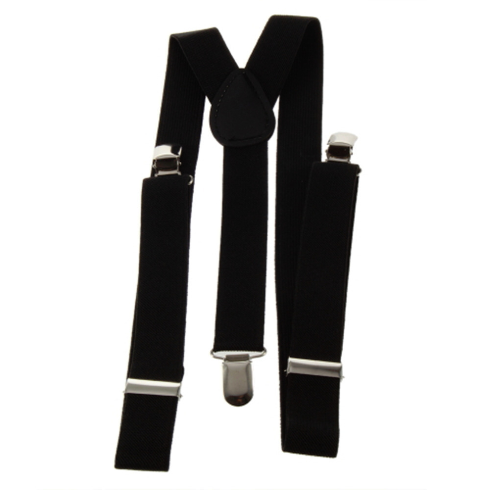 1pcs 2.5cm Clip-on Adjustable Unisex Men Women Pants Braces Straps Fully Elastic Y-back Suspender belt Hot