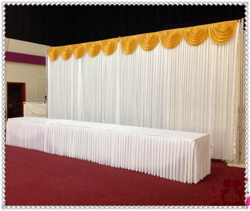 wedding stage background 3x6m backdrop curtains with swag for weddings