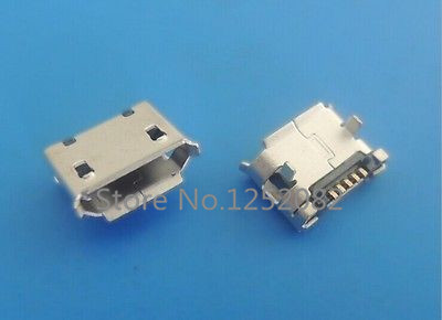 20Pcs Micro USB Type B Female 5 pin SMT SMD Socket Connector 2 pin Legs DIP