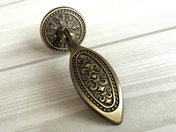 Tear Drop Dresser Drawer Pulls Knobs Handles Antique Bronze / Kitchen Cabinet Knobs Handle Pull Knob Furniture Knob Hardware <br><br>Aliexpress