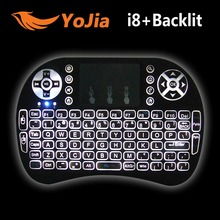 Backlight i8+ English Version Mini Wireless Keyboard 2.4GHz Air Mouse Gaming Handheld Touchpad for Android TV BOX Laptop Backlit