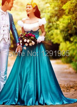 sissi medieval dress sissi princess Medieval Renaissance Gown queen Costume Victorian /Marie / Belle ball(China (Mainland))