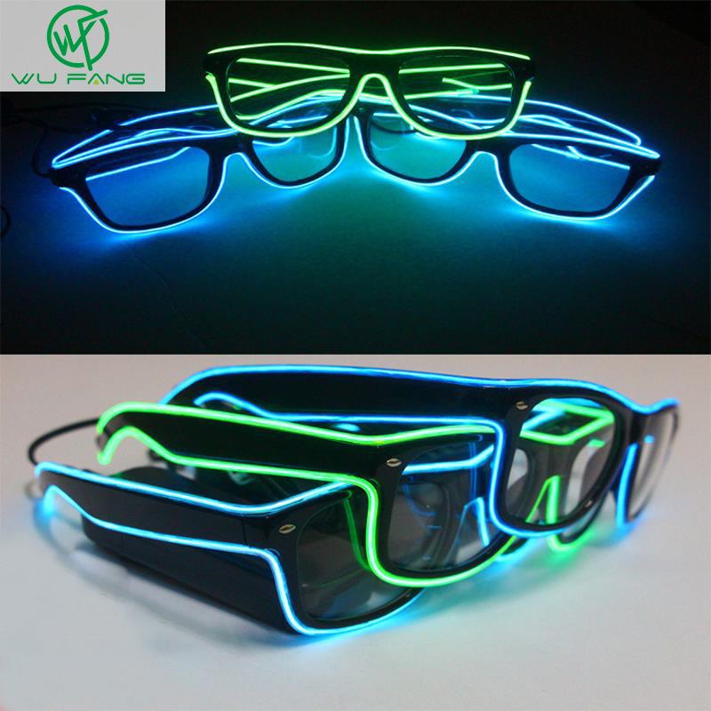 New Hot Toys fluorescent flashing led glasses luminous 10colors Rave Costume Party DJ Bright Fashion Neon LED Light Up(China (Mainland))