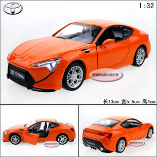 NEW 1:32 Toyota FT-86 Alloy Diecast Model Car Toy With Sound&Light Orange B1997(China (Mainland))