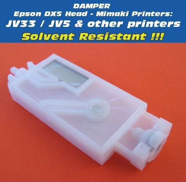 Free Shipping -20 pcs Printer Inkjet Damper for Mimaki JV33 Damper and JV5 Printers , DX5 print head Damper(China (Mainland))