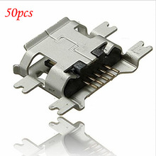 50pcs Micro USB 5pin B type Female Connector For Mobile Phone Micro USB Jack Connector 5 pin Charging Socket