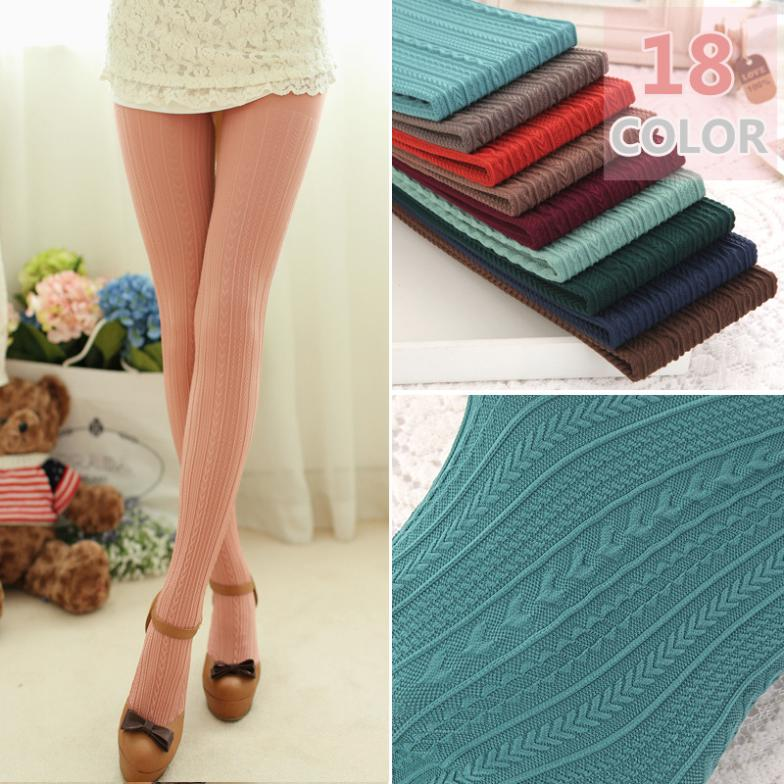 W782 160D Trend Knitting High elastic super Slim Women's pantyhose fashion casual vertical stripes tights 18 Colors free ship(China (Mainland))