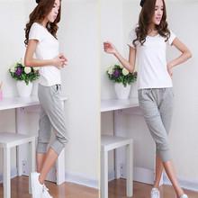 XXXL Plus Size 2015 New Women`s Summer Fashion Sports Harem Capri Pants Trousers Sweatpants For Women Calca Feminina Black/Gray(China (Mainland))