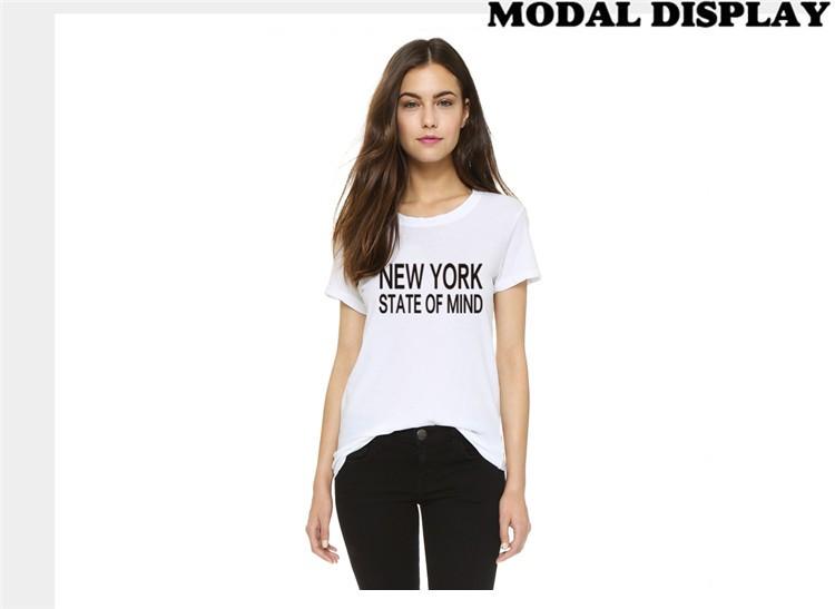 2016 H650 Summer Style Casual Women T shirts NEW YORK STATE OF MIND Printed Harajuku White T-shirt Plus Size Tees  HTB1eK7PKXXXXXcQXXXXq6xXFXXXo
