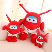 2016 Super Wings Jett Cartoon Plush Action Figure Stuffed Toys Superwings Toy For Children 22cm 30cm 45cm Free shipping(China (Mainland))