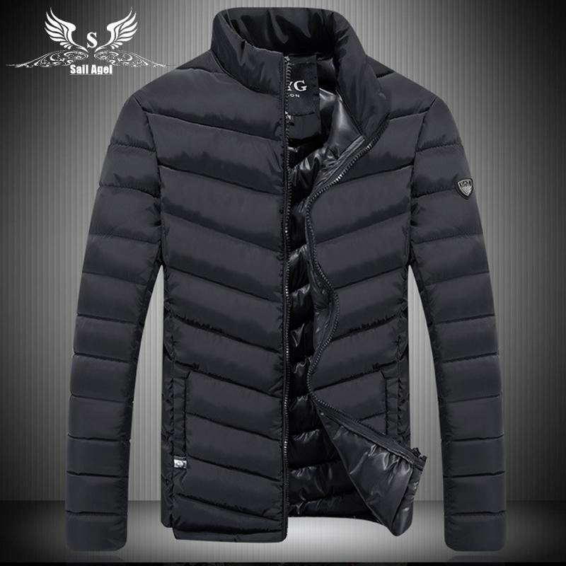 2016 new brand QCYG hot men's winter collar fashion slim sports down cotton men jackets business casual warm coat mens jacket(China (Mainland))
