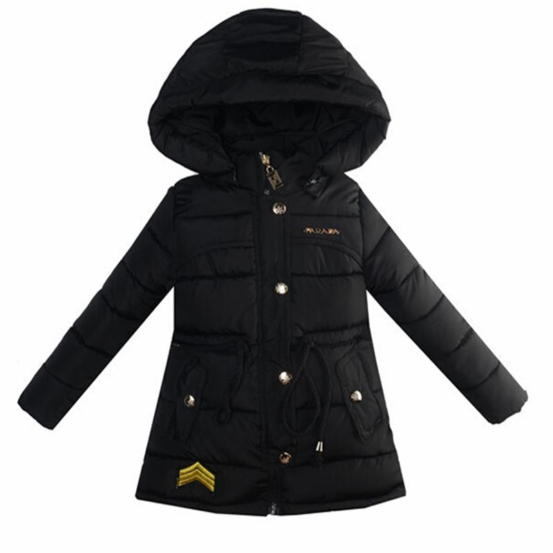 2015 Girls Winter Coat Long Sections Duck Down Jacket For Girls Fashion Winter Jacket For Girls Hooded Parka Kids Outwear Coat