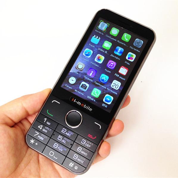 3.5'' Big Screen Original H-Mobile H-I6C Luxury Bar Mobile Phone Dual SIM Loud Sound Vibration Russian Language Keyboard Phone(China (Mainland))