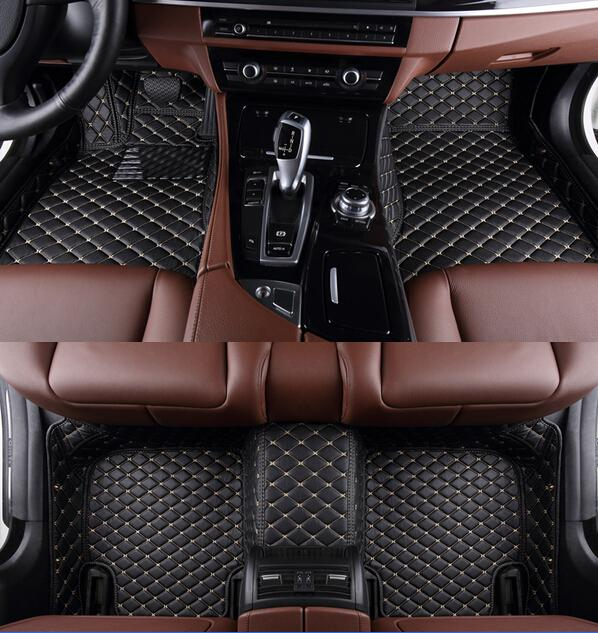 Special floor mats for Ford Mustang 2doors 2015 durable waterproof leather carpets for Mustang Coupe 15,Free shipping(China (Mainland))