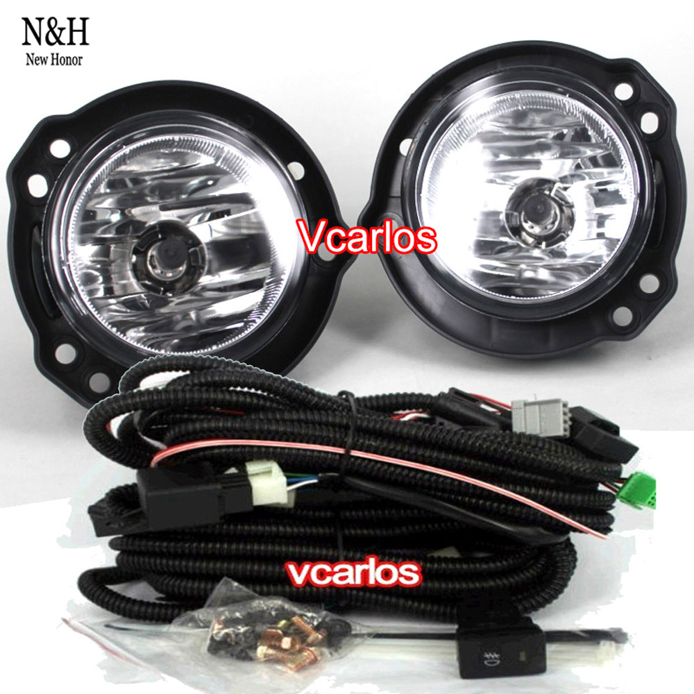 High quality Car Light Source Fog lights lamp Toyota AVANZA 2012 Auto Fog lamp with clear lens Wiring Kit fog light set(China (Mainland))