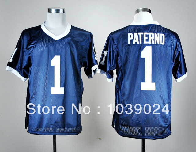 Excellent Quality NWT Penn State Nittany Hot Sale#1 Joe Paterno Jersey Navy Blue Stitched Penn State Nittany Colleage Football(China (Mainland))