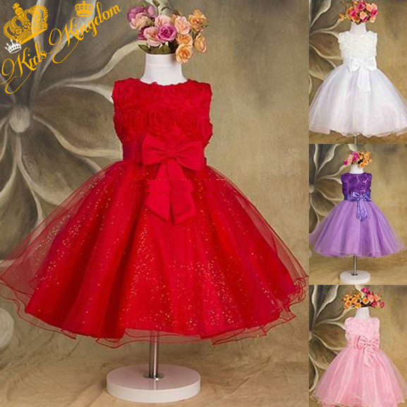 2015 summer new arrival flower princess girl dress children's clothing boutique. girl dresses(China (Mainland))