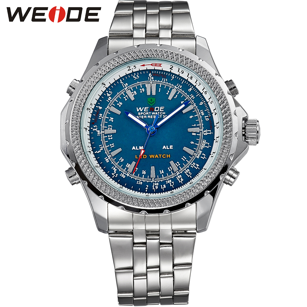 WEIDE Men Quartz Watch Digital Sports Watches Relogio Masculino Analog Alarm LED Back Light Display Multifunction Wristwatches<br><br>Aliexpress