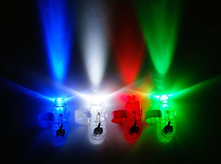 LED Finger Beams Party Nightclub Glow Light Ring Torch Fun Party Decoration High Quality 1000pcs/lot(China (Mainland))