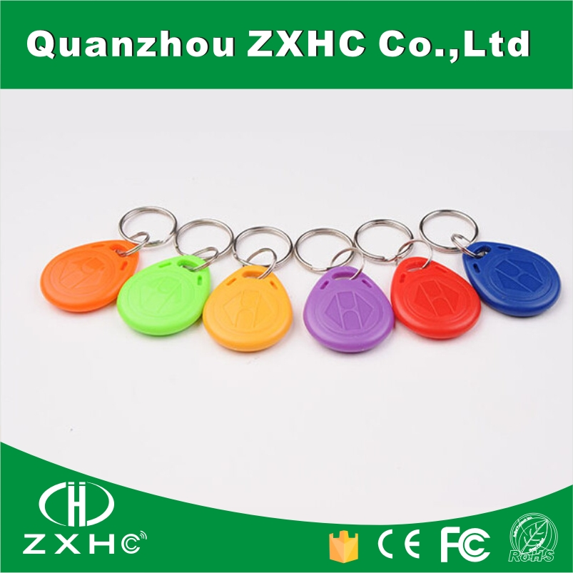 (1000PCS) Top Quality 6 Different Color TK4100(EM4100) 125 KHz Waterproof RFID Tag NO.2 ID Keyfob Token Access Control Cards(China (Mainland))