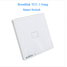 EU Standard Broadlink New TC2/TC1 Wireless 1-Gang Smart Home Remote Control Wifi Wall Light Touch Screen Switch 110V-240V IR+RF