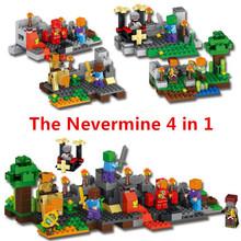 Buy JP World Minecraft Nevermine Bam Gyroscope Rock Knight Wizard 4 1 Building Blocks Bricks fun Toys Children gift Lepin for $35.00 in AliExpress store