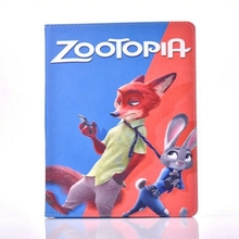 Zootopia Judy Hopps took Nick Wilde tie PU Leather Stand Flip Case Cover for Apple Tablet iPad2/iPad3/iPad4(China (Mainland))