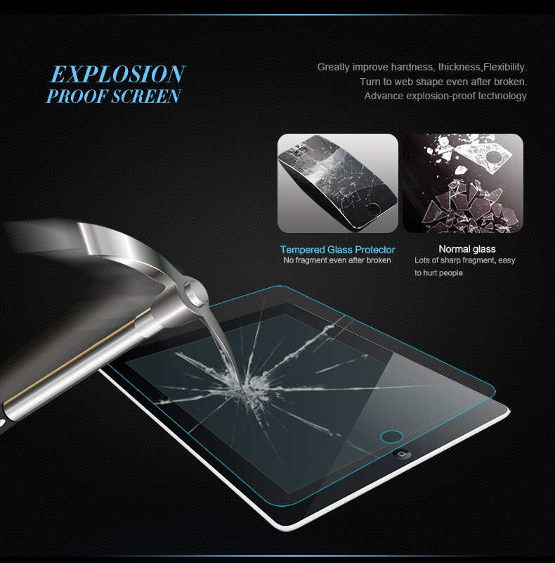 Tempered Glass Screen Protector For Apple i pad mini Clear Transparent Screen Film Protective Guard ForTablet pad mini Retailbox