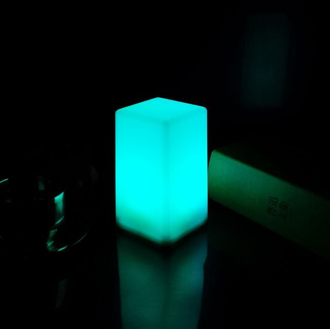 Led flashing 7 color changing table lamp with switch button DHL free shipping<br><br>Aliexpress