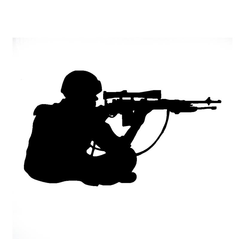 Wholesale 10pcs/lot 20pcs/lot Sniper Marksman Military Car Auto Window Vinyl Decal Bumper Sticker(China (Mainland))