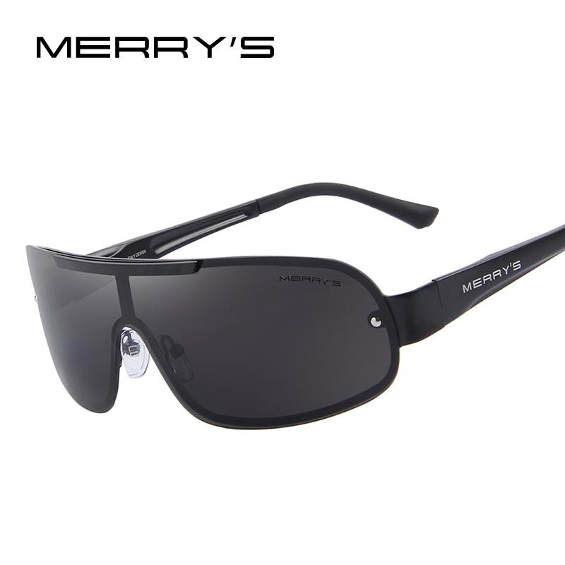 MERRY'S Men Classic Brand Sunglasses HD Polarized Glasses Men's Integrated Eyewear Sunglasses S'8616(China (Mainland))