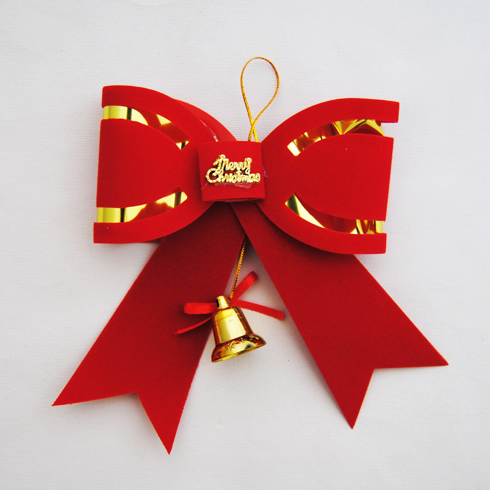 Christmas bow tie 10cm wholesale Christmas ornaments and decorative Christmas bows(China (Mainland))