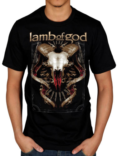 Lamb of God T shirt men Tech Steer short sleeve casual tee Tee US size S-3XL(China (Mainland))