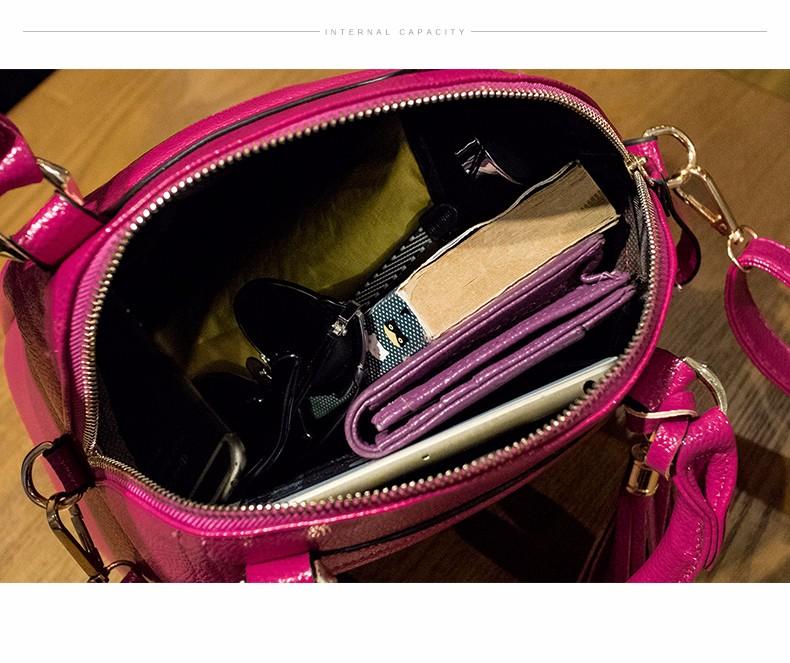 New Fashion Tassel Ladylike Shell Bag Women Sweet Style Plain Handbag Designer Elegant Shoulder Bag Ladies Solid Color Crossbody